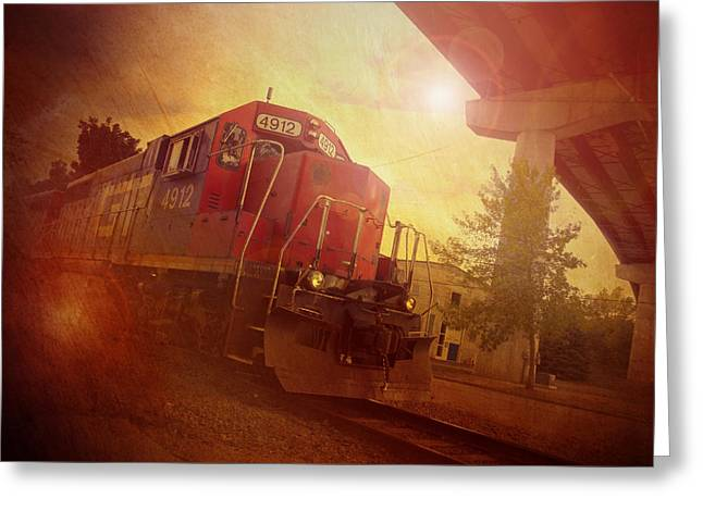 Best Sellers -  - Appleton Art Greeting Cards - Express Train Greeting Card by Joel Witmeyer