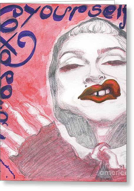 Express Yourself Greeting Cards - Express Yourself Greeting Card by Andreea Paraschiv