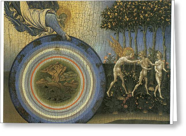 Expulsion From Paradise Greeting Card by Giovanni Di Paolo