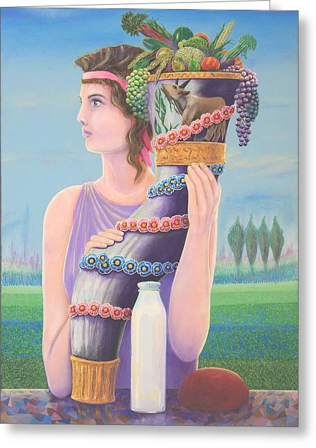 Cornucopia Paintings Greeting Cards - Extant Greeting Card by Purvis Evans
