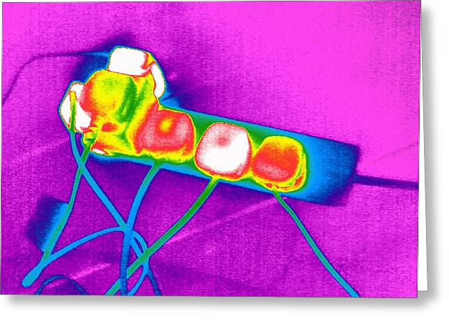 Extension Lead, Thermogram Greeting Card by Tony Mcconnell