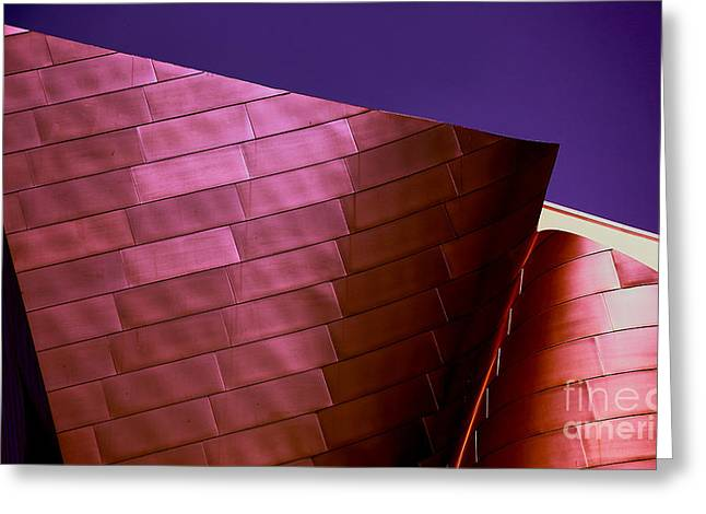Music Center Greeting Cards - Exterior Abstract Disney Hall Greeting Card by Chuck Kuhn