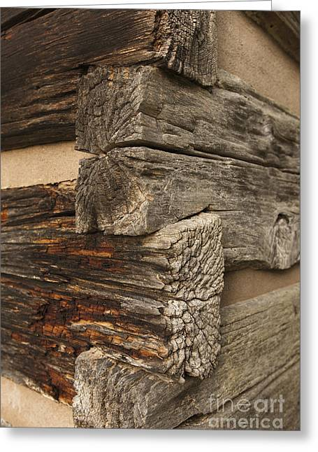 Cullowhee Greeting Cards - Exterior Corner of a Wooden Building Greeting Card by Will and Deni McIntyre