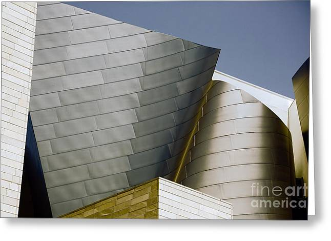 Music Center Greeting Cards - Exterior Disney Hall Greeting Card by Chuck Kuhn