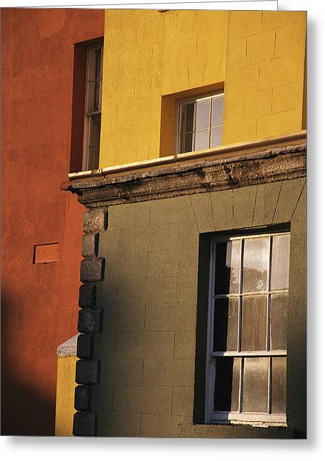 Art Of Building Greeting Cards - Exterior Of A Brightly Painted Building Greeting Card by Gina Martin