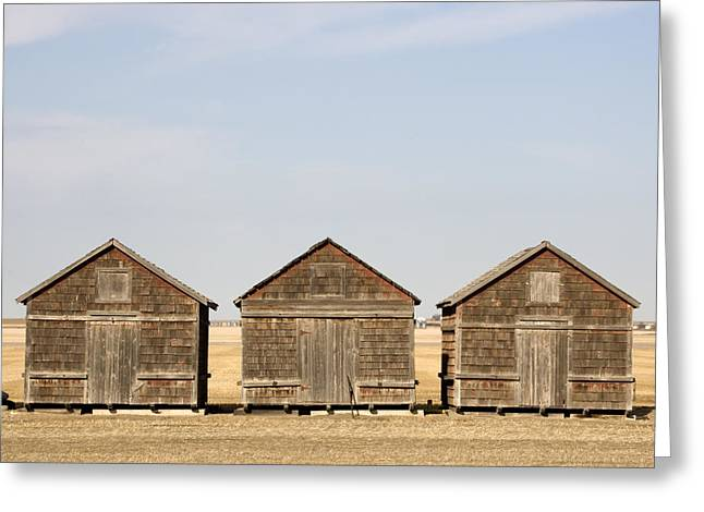 Exterior View Of Old Granaries Greeting Card by Pete Ryan