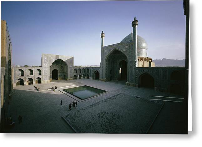 Exterior View Of The Masjid-i-shah Greeting Card by James P. Blair
