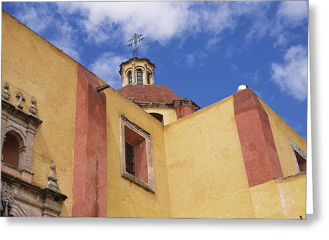 Art Of Building Greeting Cards - Exterior View Of The Templo De San Greeting Card by Gina Martin