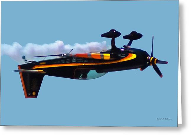 Smyrna Greeting Cards - Extra 300S Stunt Plane Greeting Card by DigiArt Diaries by Vicky B Fuller