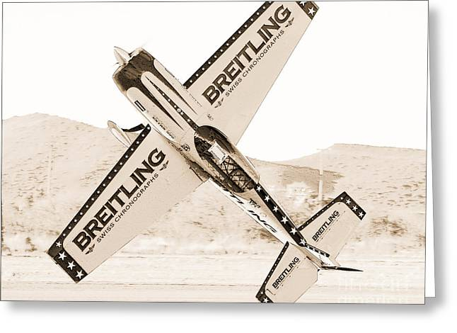 Aircraft Greeting Cards - Extra 330 Greeting Card by Arne Hansen