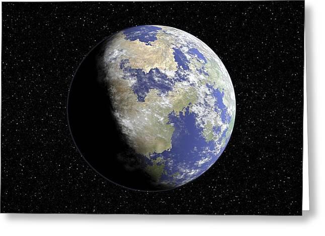 Extrasolar Planet Greeting Cards - Extrasolar Planet, Artwork Greeting Card by Take 27 Ltd