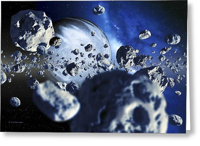 Physical Body Greeting Cards - Extrasolar Planet Greeting Card by Detlev Van Ravenswaay