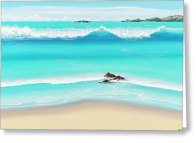 Surfing Art Greeting Cards - Extravagant Beauty Greeting Card by Colin Perini