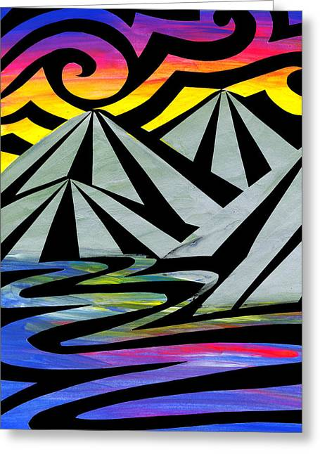 Extreme Alps Greeting Card by Roseanne Jones