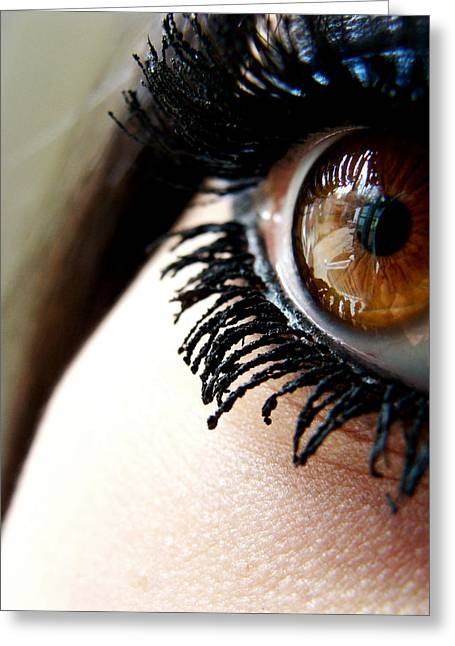 Eye 01 Greeting Card by Kalie Hoodhood