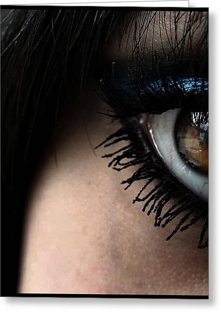Pretty Brown Eyes Greeting Cards - Eye 02 Greeting Card by Kalie Hoodhood