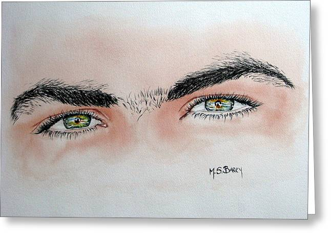 Eyebrow Greeting Cards - Eye Candy Greeting Card by Maria Barry