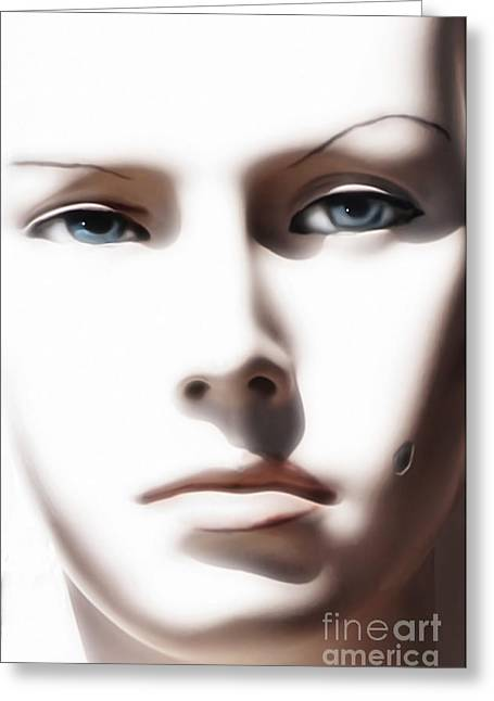 Mannequin Greeting Cards - Eye Contact Greeting Card by Dan Holm
