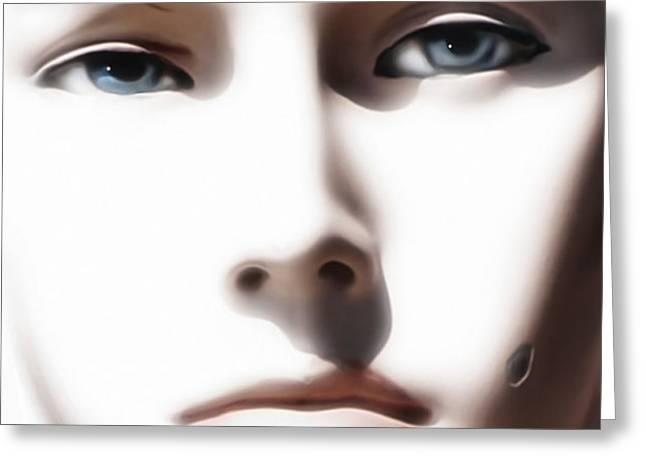 Eye Contact Greeting Card by Dan Holm