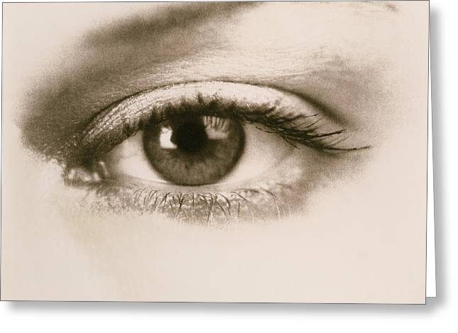 Eyebrow Greeting Cards - Eye Greeting Card by Cristina Pedrazzini