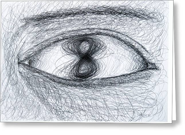 Eye Eight Study Number One Greeting Card by Michael Morgan