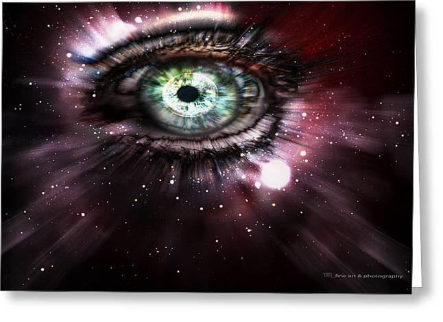 Yanieck Mariani Greeting Cards - Eye from the Stars Greeting Card by Yvon van der Wijk