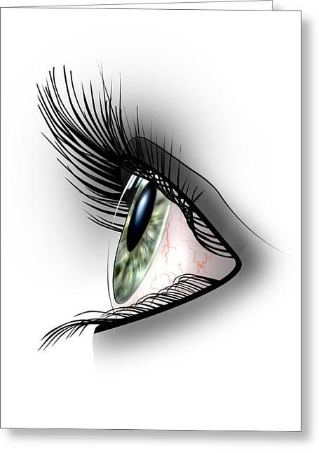 Eye Shadow Greeting Cards - Eye Greeting Card by Julie L Hoddinott