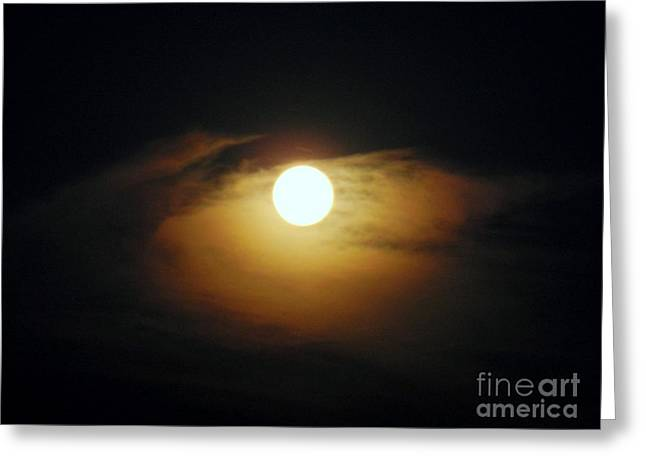 Syberian Greeting Cards - Eye Moon Greeting Card by Mariana Robu