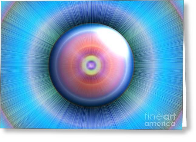 Eye Greeting Card by Nicholas Burningham