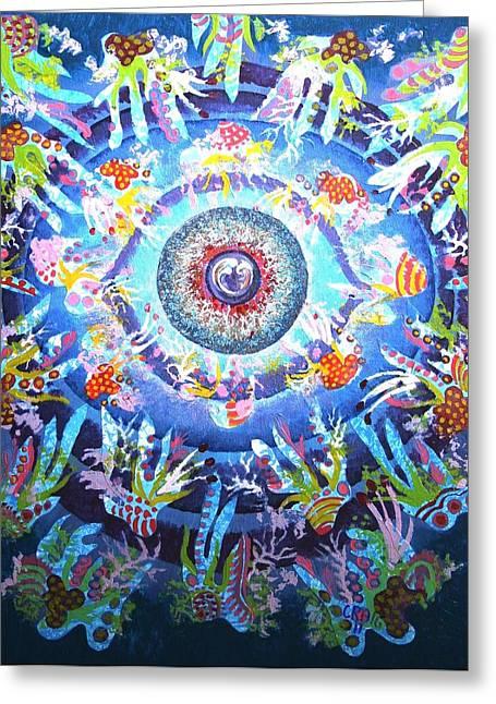 Atlantis Mixed Media Greeting Cards - Eye of Atlantis Greeting Card by Bob Craig