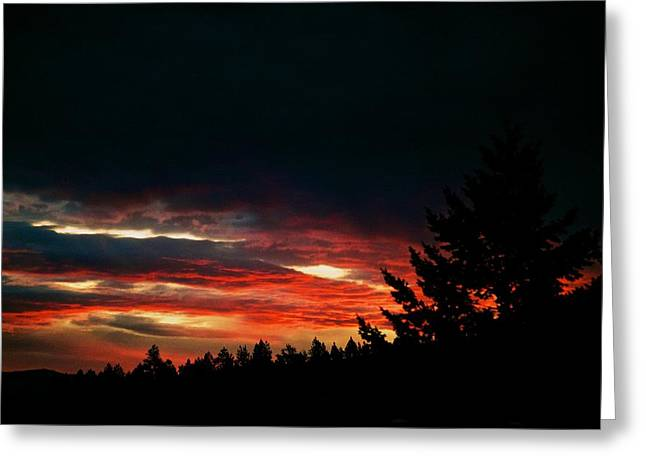 Sunset Posters Greeting Cards - Eye of Halloween  Greeting Card by Kevin Bone