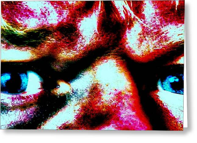 Self-portrait Photographs Greeting Cards - Eye of Mine Greeting Card by Daniel Morgan