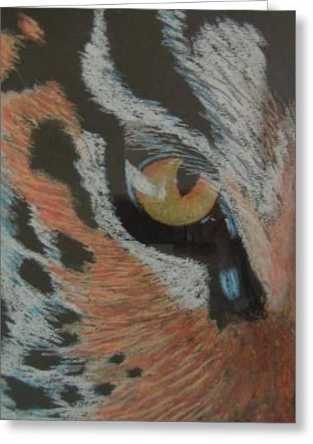 David Byrne Greeting Cards - Eye Of The Siberian Tiger Greeting Card by David Byrne