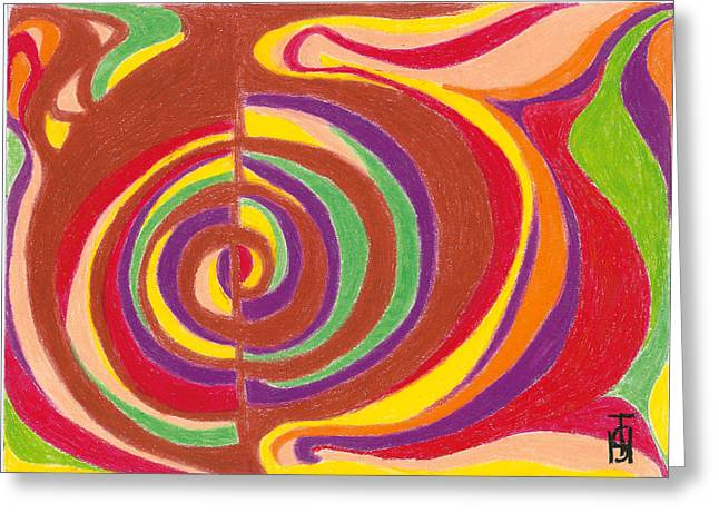 Bright Pastels Greeting Cards - Eye of the Storm Greeting Card by Helen Savin Thornhill
