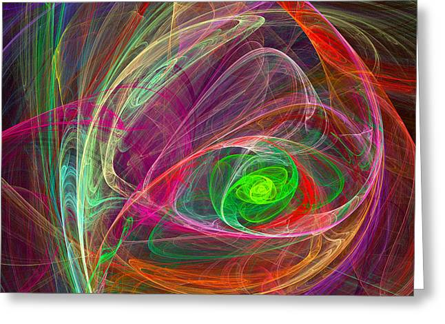Storm Prints Digital Art Greeting Cards - Eye Of The Storm Greeting Card by Ricky Barnard