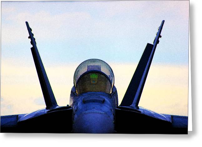 Fa-18 Greeting Cards - Eye of the Super Greeting Card by Clay Greunke