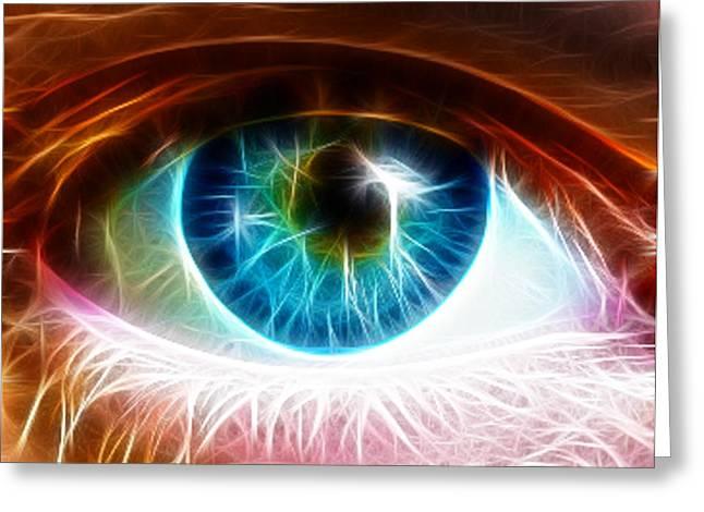 Eye Greeting Card by Paul Van Scott