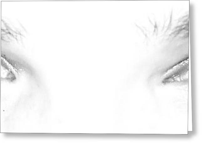 Self-portrait Photographs Greeting Cards - Eye Sea  Greeting Card by Shana Rowe