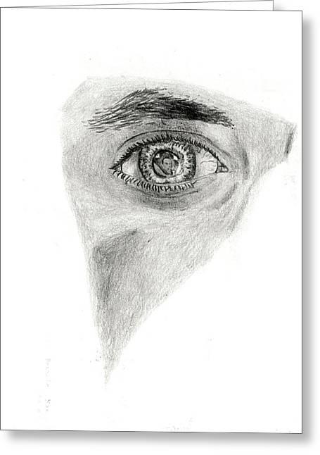 Michael Mckenzie Greeting Cards - Eye see my Self Greeting Card by Michael McKenzie