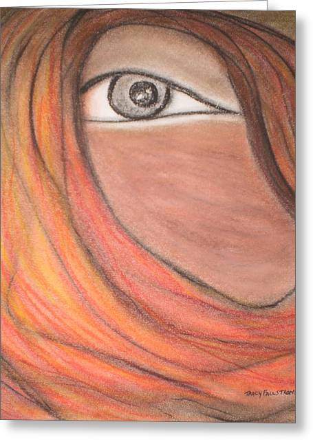 Silence Pastels Greeting Cards - Eye see You Greeting Card by Tracy Fallstrom