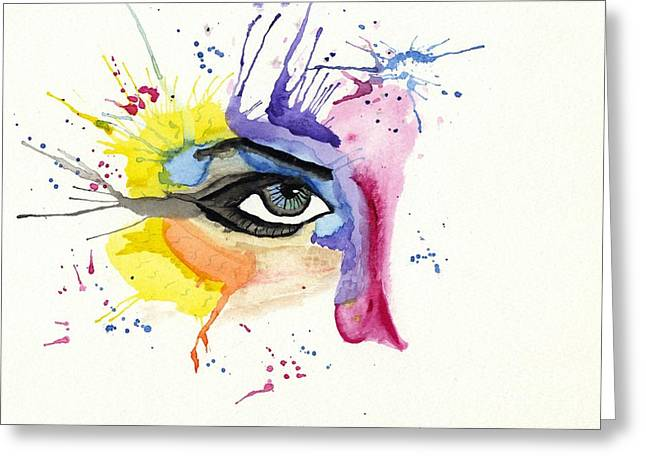 Tom Evans Greeting Cards - Eye Greeting Card by Tom Evans