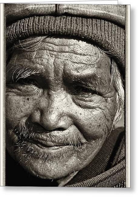 Reverence Greeting Cards - Eyes of Soul 2 Greeting Card by Skip Nall