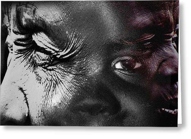 Black History Greeting Cards - Eyes Of Youth Greeting Card by Jerry Cordeiro