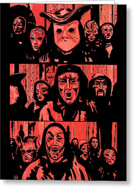 Ritual Greeting Cards - Eyes Wide Shut 1 Greeting Card by Giuseppe Cristiano
