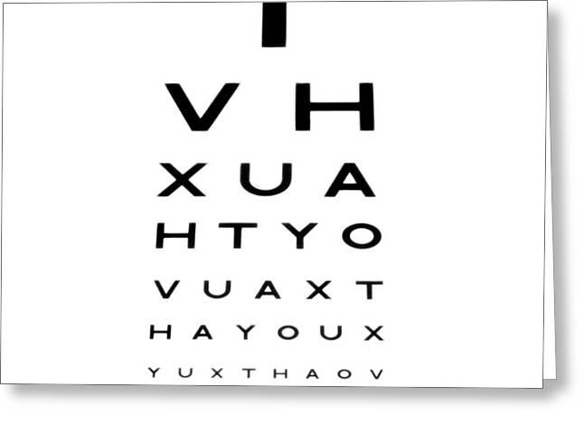 Eyesight Test Chart Greeting Card by