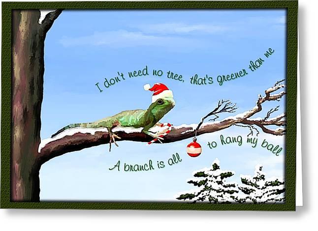 Ezekiels Christmas Greeting Card by Susan Kinney