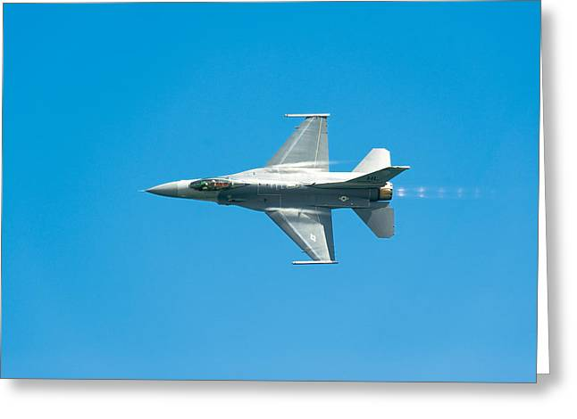 Fly Greeting Cards - F-16 Full Speed Greeting Card by Sebastian Musial