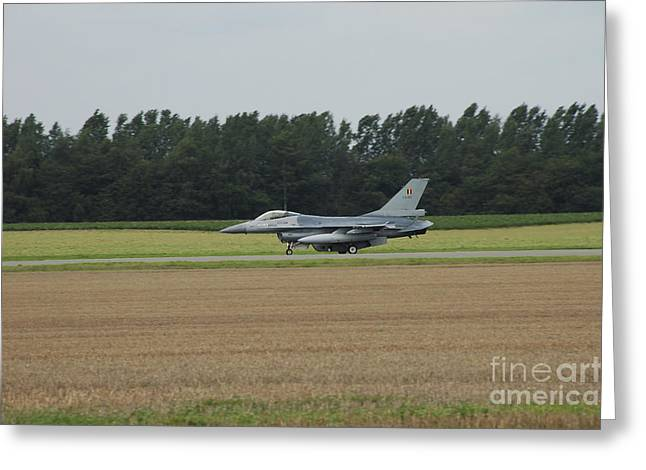 Air Component Greeting Cards - F-16 Of The Belgian Air Force Ready Greeting Card by Luc De Jaeger