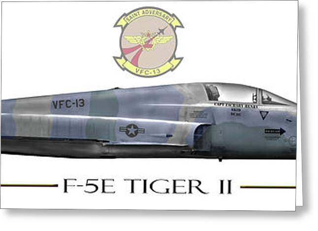 Adversary Greeting Cards - F-5E Tiger II Greeting Card by Clay Greunke