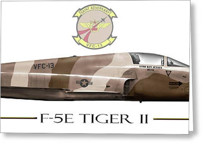 Adversary Greeting Cards - F-5E VFC-13 Tail 07 Greeting Card by Clay Greunke